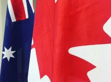 Australian and Canadian flags