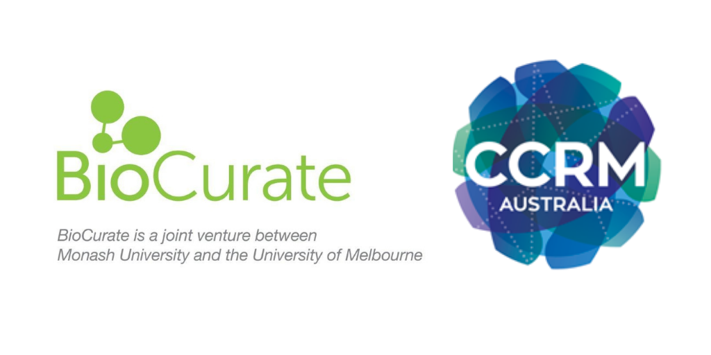 BioCurate and CCRM logos