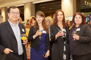 Dr Chih-Wei Teng (COO, CCRM Australia), Ms Reut Guy, Simonne Neil (Medical Research Project Officer at Maddie Riewoldt's Vision) and Xenia Sango (Acareon Health)