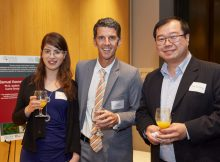 Ms Reut Guy with Brent McPherson from WorldCourier and Dr Chih-Wei Teng